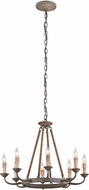 Troy F6116 Cyrano Traditional Earthen Bronze Chandelier Light