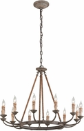 Troy F6117 Cyrano Traditional Earthen Bronze Chandelier Lighting