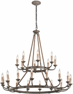 Troy F6118 Cyrano Traditional Earthen Bronze Lighting Chandelier