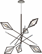 Troy F6146 Javelin Contemporary Bronze And Polished Stainless Chandelier Lamp
