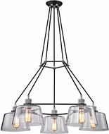 Troy F6155 Audiophile Modern Old Silver And Polished Aluminum 35.5 Hanging Chandelier