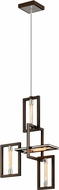Troy F6184 Enigma Modern Bronze Mini Hanging Chandelier