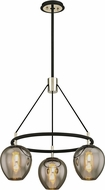 Troy F6213 Iliad Modern Carbide Black Polished Nickel Mini Chandelier Light