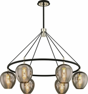 Troy F6216 Iliad Modern Carbide Black Polished Nickel 40  Lighting Chandelier