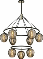 Troy F6219 Iliad Contemporary Black & Nickel Chandelier Lamp