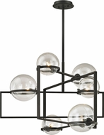 Troy F6226 Elliot Contemporary Black Xenon 30  Ceiling Chandelier