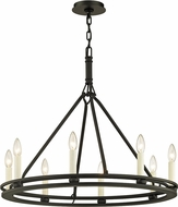 Troy F6236 Sutton Black Candle Chandelier Light