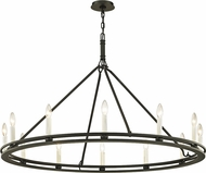 Troy F6237 Sutton Black Candle Chandelier Lighting