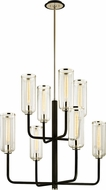 Troy F6278 Aeon Modern Carbide Black Polished Nickel Chandelier Light