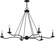Troy F6306 Sawyer Modern Iron 53.5  Lighting Chandelier