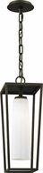 Troy F6357 Mission Beach Modern Black Outdoor Pendant Lighting Fixture