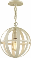 Troy F6551 Flatiron White Mini Pendant Lamp
