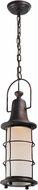Troy FF4447 Maritime Hand Worked Iron Fluorescent Outdoor Mini Hanging Lamp