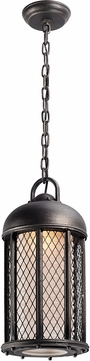 Troy FF4487 Signal Hill Hand Worked Iron Fluorescent Exterior Mini Hanging Light