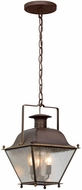 Troy FL5077NR Wellesley Natural Rust LED Outdoor Pendant Lighting