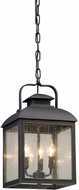 Troy FL5087 Chamberlain Traditional Vintage Bronze LED Exterior Pendant Light