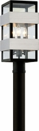Troy P6525 Dana Point Contemporary Textured Black With Brushed Stainless Outdoor Post Light Fixture