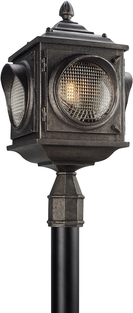 Troy pl4505 main street retro solid aluminum led outdoor post troy pl4505 main street retro solid aluminum led outdoor post light fixture loading zoom aloadofball Gallery
