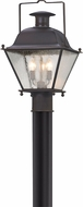 Troy PL5075CI Wellesley Charred Iron LED Exterior Post Lamp