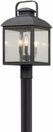 Troy PL5085 Chamberlain Traditional Vintage Bronze LED Exterior Post Light