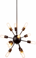 Urban Classic 1134D21VS Cork Contemporary Vintage Steel Chandelier Lighting