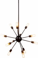 Urban Classic 1134D30VS Cork Contemporary Vintage Steel Chandelier Lamp