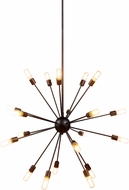 Urban Classic 1134G40VS Cork Contemporary Vintage Steel Ceiling Chandelier