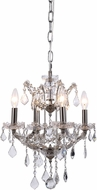 Urban Classic 1138D13PN-RC Elena Polished Nickel Mini Hanging Chandelier