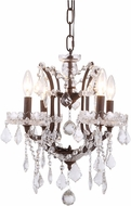 Urban Classic 1138D13RI-RC Elena Rustic Intent Mini Chandelier Lighting