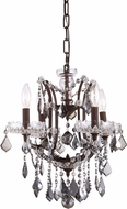 Urban Classic 1138D13RI-SS-RC Elena Rustic Intent Mini Lighting Chandelier