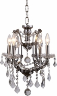Urban Classic 1138D13RS-RC Elena Raw Steel Mini Chandelier Lamp