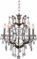 Urban Classic 1138D18RS-RC Elena Raw Steel Mini Lighting Chandelier