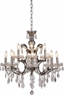Urban Classic 1138D26RS-RC Elena Raw Steel Chandelier Lighting