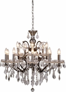 Urban Classic 1138D30RS-RC Elena Raw Steel Chandelier Light