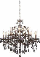 Urban Classic 1138D30RS-SS-RC Elena Raw Steel Chandelier Lighting
