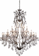 Urban Classic 1138G41RS-RC Elena Raw Steel Chandelier Light