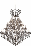 Urban Classic 1138G60RS-SS-RC Elena Raw Steel Hanging Chandelier