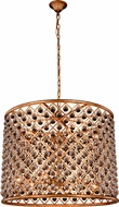 Urban Classic 1204D35GI-RC Madison Golden Iron 35.5  Drum Pendant Lamp