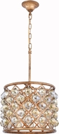 Urban Classic 1206D14GI-GT-RC Madison Golden Iron 14  Drum Hanging Lamp