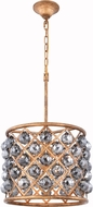 Urban Classic 1206D14GI-SS-RC Madison Golden Iron 14  Drum Pendant Light Fixture