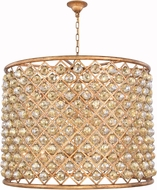 Urban Classic 1206D35GI-GT-RC Madison Golden Iron 35.5  Drum Drop Ceiling Lighting