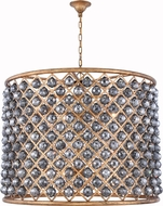 Urban Classic 1206D35GI-SS-RC Madison Golden Iron 35.5  Drum Ceiling Pendant Light