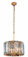 Urban Classic 1211D17GI Monaco Golden Iron 17  Drum Drop Ceiling Light Fixture