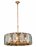 Urban Classic 1211D30GI Monaco Golden Iron 30  Drum Pendant Lighting