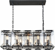 Urban Classic 1212D34FB Monaco Flat Black (Matte) Kitchen Island Light
