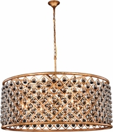 Urban Classic 1213G43GI-RC Madison Golden Iron 43.5  Drum Pendant Light Fixture