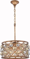 Urban Classic 1214D16GI-GT-RC Madison Golden Iron 16  Drum Pendant Hanging Light