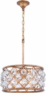 Urban Classic 1214D16GI-RC Madison Golden Iron 16  Drum Hanging Light Fixture