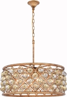 Urban Classic 1214D25GI-GT-RC Madison Golden Iron 25  Drum Drop Ceiling Light Fixture