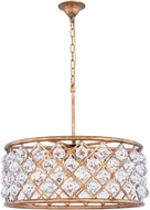Urban Classic 1214D25GI-RC Madison Golden Iron 25  Drum Drop Lighting Fixture